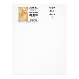 Leonardo da Vinci Three Classes Of People Quote Letterhead
