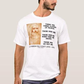 Leonardo da Vinci Three Classes Of People Quote T-Shirt