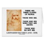 Leonardo da Vinci tres clases de cita de la gente Tarjetas