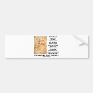 Leonardo da Vinci Truth Cannot Be Hidden Quote Bumper Stickers