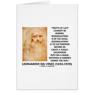 Leonardo da Vinci Truth Cannot Be Hidden Quote Greeting Card