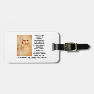 Leonardo da Vinci Truth Cannot Be Hidden Quote Travel Bag Tag