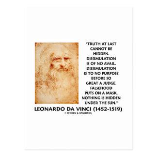 Leonardo da Vinci Truth Cannot Be Hidden Quote Postcards