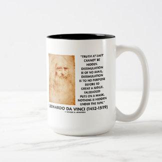 Leonardo da Vinci Truth Cannot Be Hidden Quote Two-Tone Coffee Mug