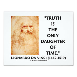 Leonardo da Vinci Truth Is The Only Daughter Time Card