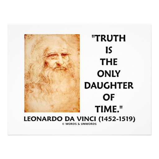 Leonardo da Vinci Truth Is The Only Daughter Time Personalized Flyer