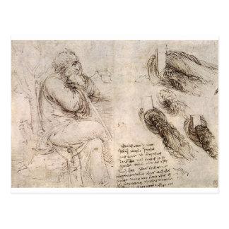Leonardo da Vinci, uno mismo-retrato posible Tarjeta Postal