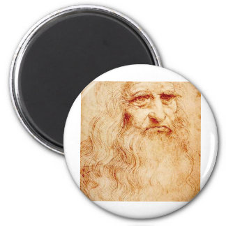 Leonardo da Vinci, uno mismo-retrato pretendido Imán Redondo 5 Cm