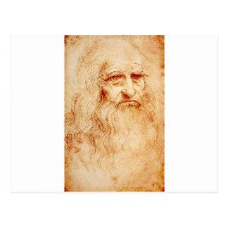 Leonardo da Vinci, uno mismo-retrato pretendido Tarjeta Postal