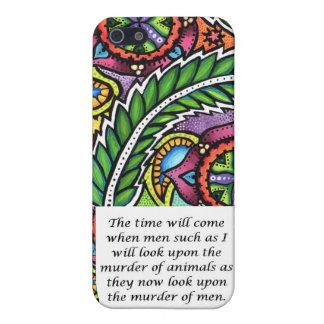 Leonardo Da Vinci vegetarian quote Cover For iPhone SE/5/5s