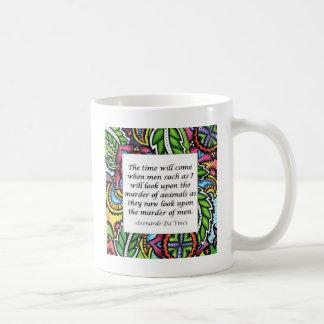 Leonardo Da Vinci vegetarian quote Coffee Mugs