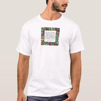 Leonardo Da Vinci vegetarian quote T-Shirt