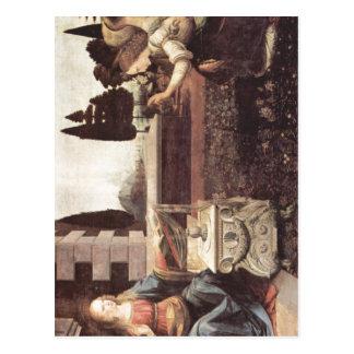 ¿Leonardo da Vinci Verk? ndigung una Maria um 1472 Postales