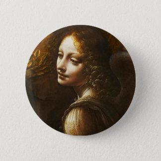 Leonardo da Vinci Virgin of the Rocks Angel Button