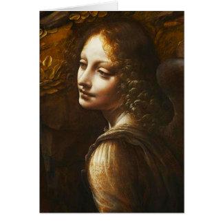 Leonardo da Vinci Virgin of the Rocks Angel Greeting Card