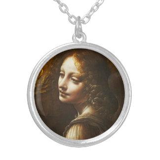 Leonardo da Vinci Virgin of the Rocks Angel Round Pendant Necklace