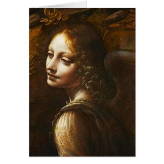 Leonardo da Vinci Virgin of the Rocks Angel Stationery Note Card