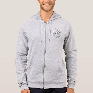 Leonardo da Vinci Zip Front Hooded Sweatshirt