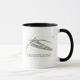 Leonardo da Vinci's designs for an Ornithopter Mug