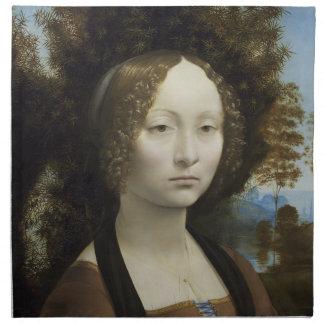 Leonardo Da Vinci's Ginevra de Benci Cloth Napkin