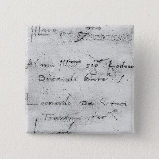 Leonardo da Vinci's handwriting Pinback Button