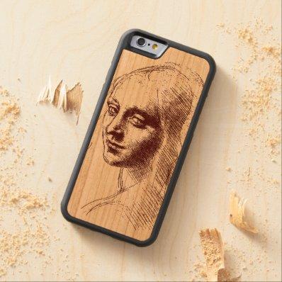 Leonardo daVinci Beautiful Girl Wood iPhone 6 case