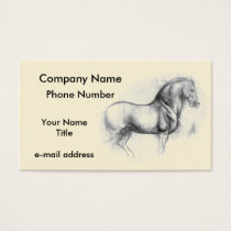 Leonardo DaVinci Horse Business Card