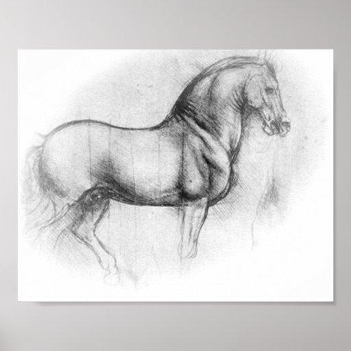 Leonardo DaVinci Horse poster
