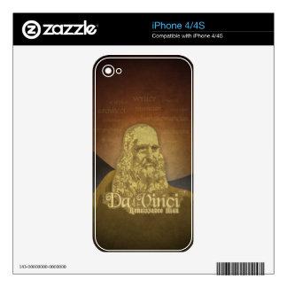Leonardo DaVinci Renaissance Man iPhone 4S Decal