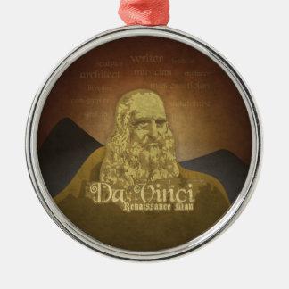 Leonardo DaVinci Renaissance Man Metal Ornament