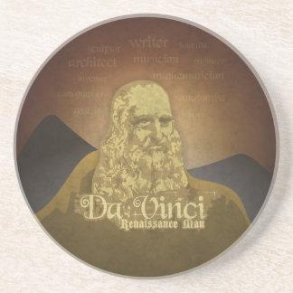 Leonardo DaVinci Renaissance Man Sandstone Coaster