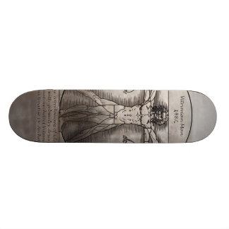Leonardo daVinci s Vitruvian Man Skateboard
