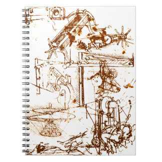 Leonardo DaVinci sketched notepad Notebook