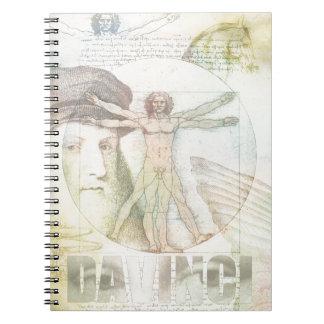 Leonardo DaVinci Vitruvian Man Collage Notebook