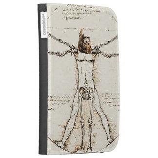 Leonardo DaVinci's Vitruvian mashup + Paper Venus Kindle Keyboard Case