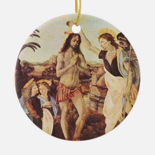 Leonardo de da Vinci - El bautismo de Cristo Ornamentos De Reyes Magos