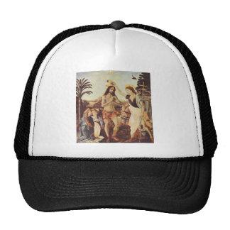 Leonardo de da Vinci - El bautismo de Cristo Gorros Bordados
