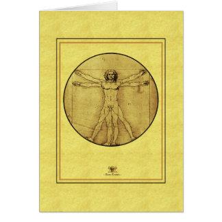 """Leonardo de vinci  """"Vitruvian Man"""" Card"""