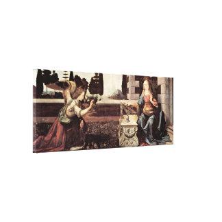 Leonardo di ser Piero da Vinci - Annunciation Canvas Print