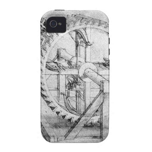 Leonardo Gears Vibe iPhone 4 Case
