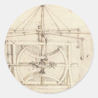 Leonardo Invention Classic Round Sticker