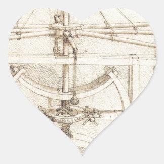 Leonardo Invention Heart Sticker