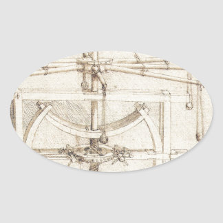 Leonardo Invention Oval Sticker