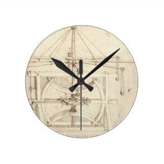 Leonardo Invention Round Clock