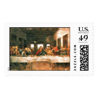 """Leonardo """"la última cena """" sello postal"""