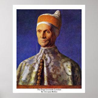 Leonardo Loredan del dux de Juan Bellini Poster