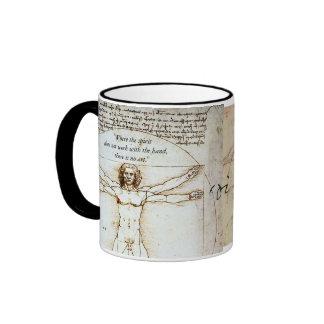 Leonardo on Art Ringer Mug