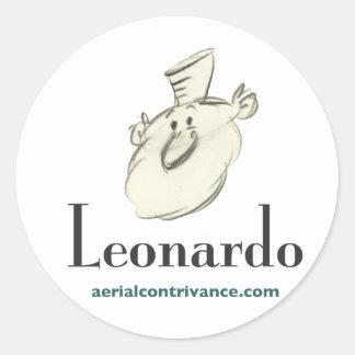 Leonardo Pegatina Redonda