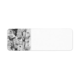 Leonardo Vinci- Anatomical studies (larynx & leg) Custom Return Address Label