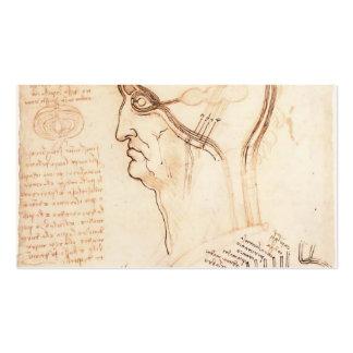 Leonardo Vinci- Comparison of scalp skin and onion Business Cards